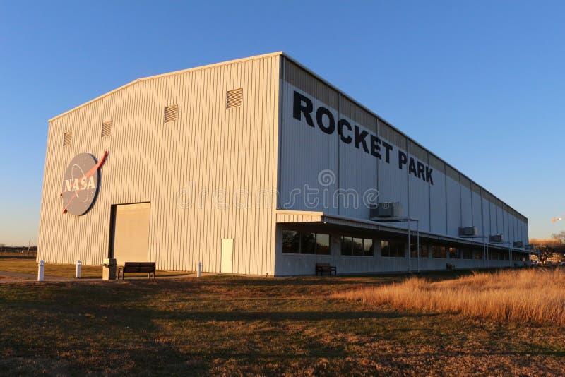 Saturn V bei Rocket Park stockfotografie