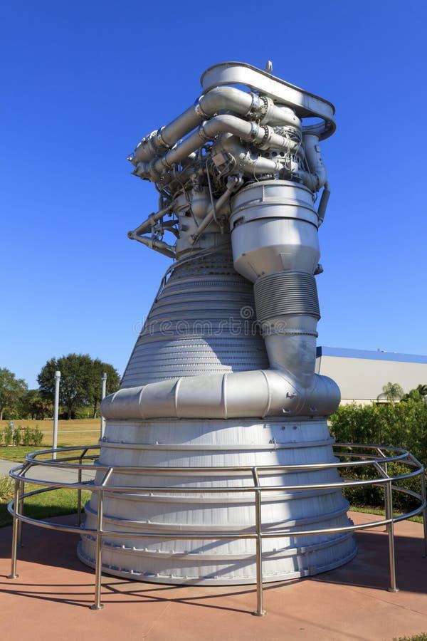 Saturn V f1 motor royalty-vrije stock afbeeldingen