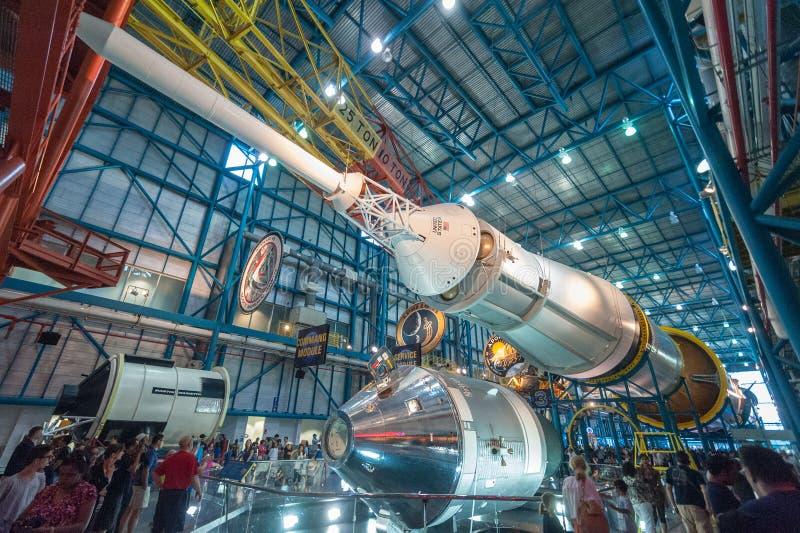 Saturn V Moonrocket imagen de archivo