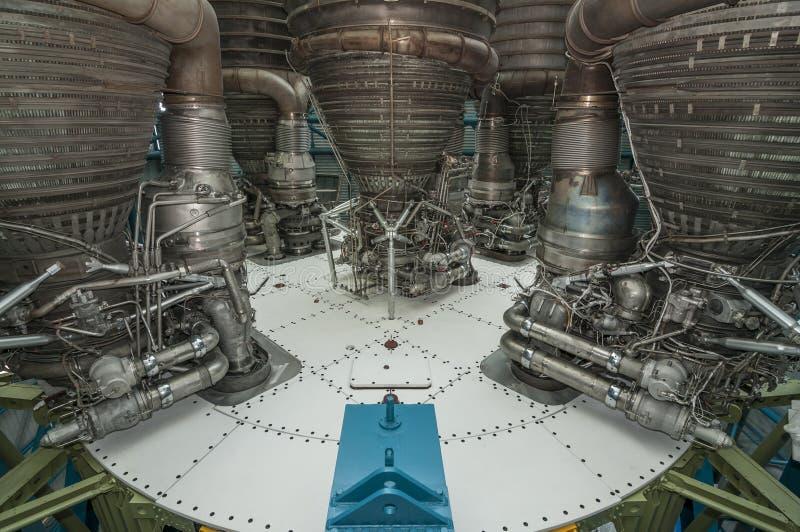 Saturn-V-Motor stockbild