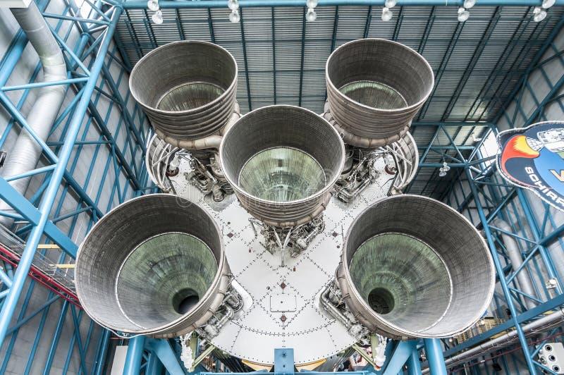 Saturn-V-motor royalty-vrije stock afbeeldingen