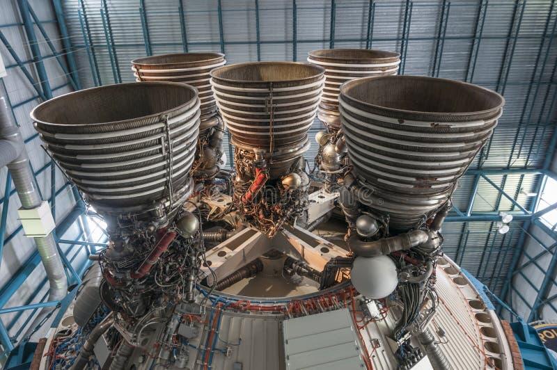 Saturn-V-motor royalty-vrije stock foto