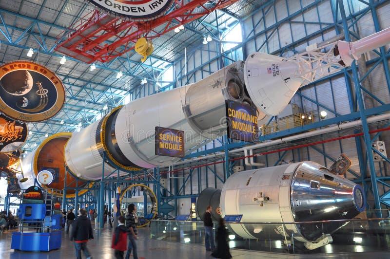 Saturn V Rocket, Cape Canaveral, Florida stock photo