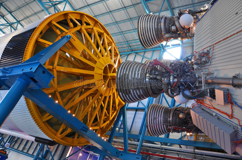 Saturn V Rocket Engines, Cabo Canaveral, Florida imagem de stock
