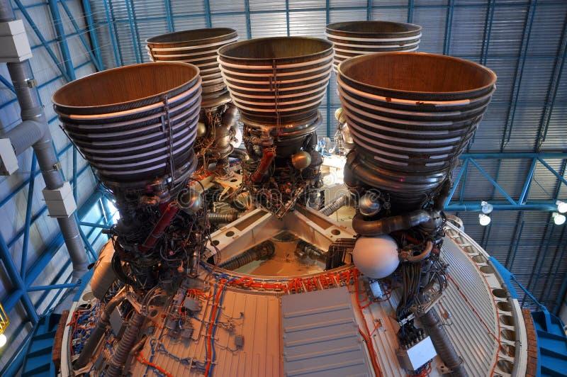 Saturn V Rocket Engines, Cape Canaveral, Florida stock photos