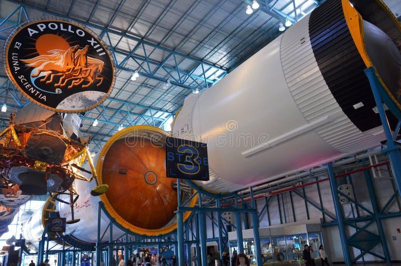 Saturn V Rocket Engines, Kaap Canaveral, Florida royalty-vrije stock foto