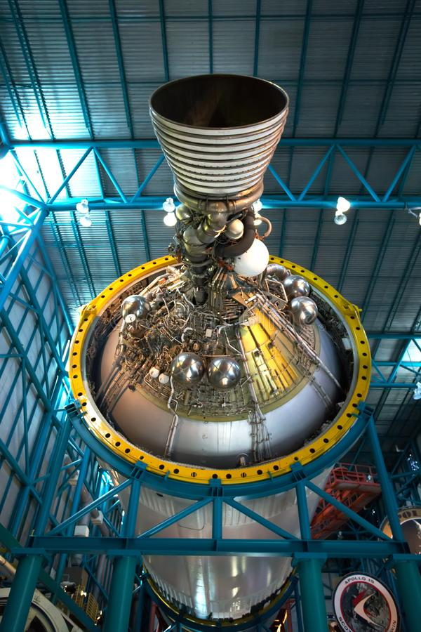 Saturn V Stadium III Rocket Engine, Kennedy Center stock afbeelding