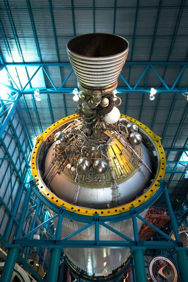 Saturn V Stage III Rocket Engine, Kennedy Center stock image