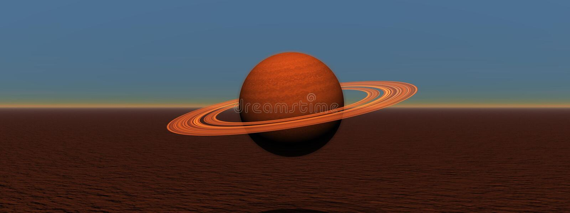 Saturno stock de ilustración