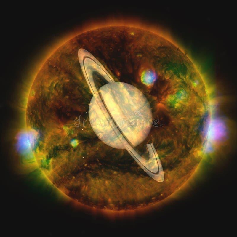 saturno Elementos desta imagem fornecidos pela NASA imagem de stock royalty free