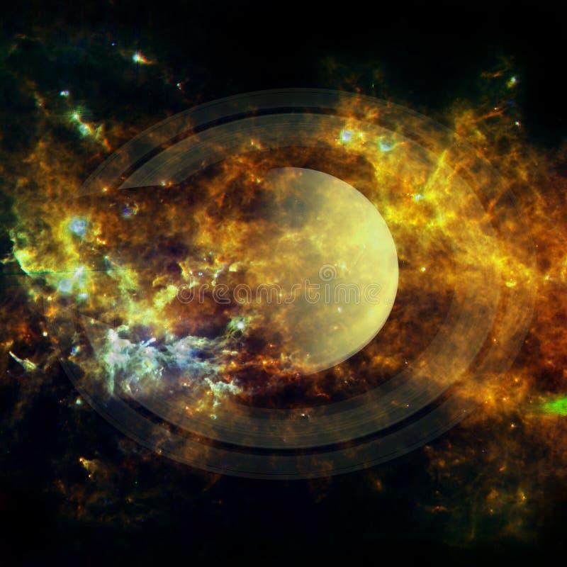 saturno Elementos desta imagem fornecidos pela NASA ilustração do vetor