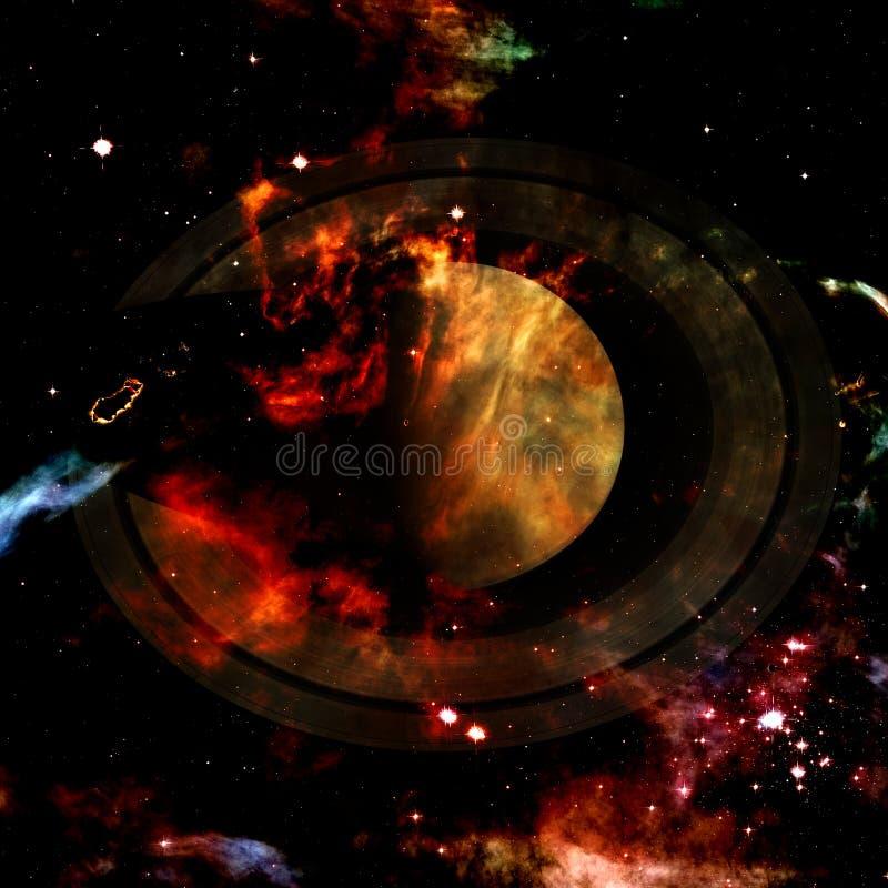 saturno Elementos desta imagem fornecidos pela NASA ilustração royalty free