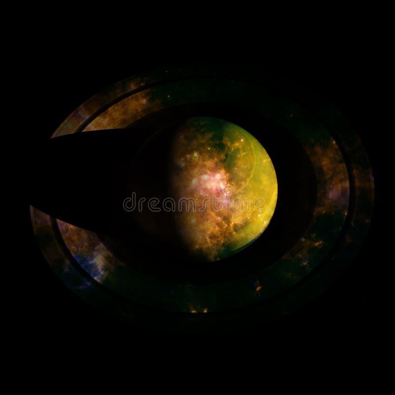 saturno Elementos desta imagem fornecidos pela NASA fotografia de stock royalty free