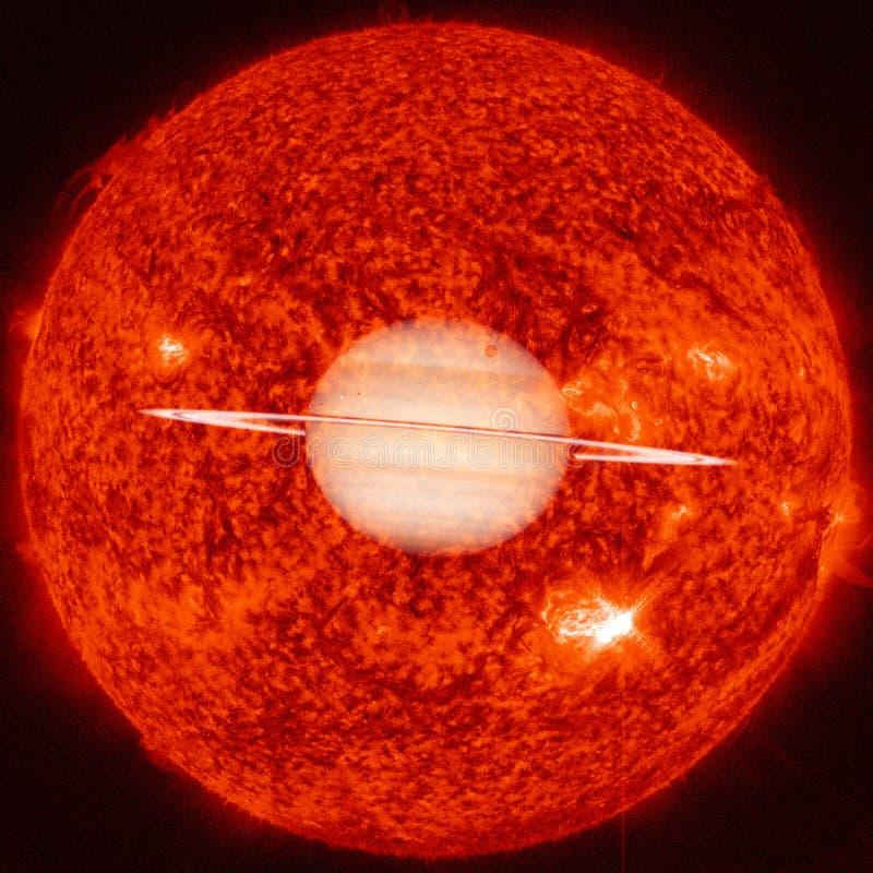 saturno Elementos desta imagem fornecidos pela NASA fotografia de stock