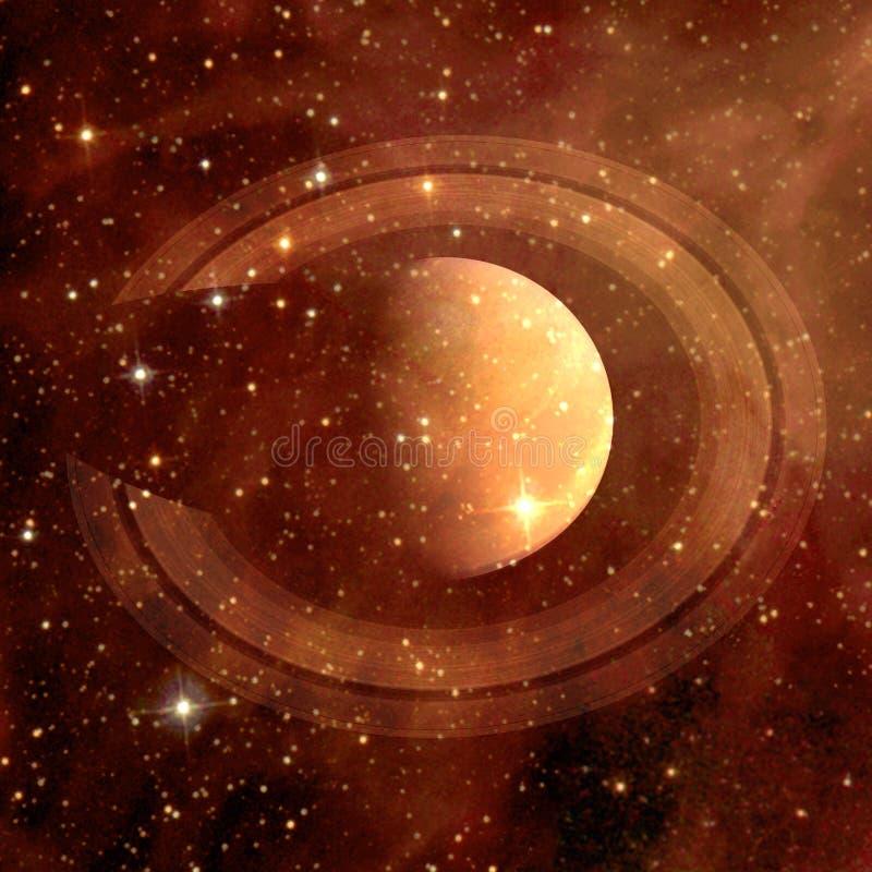 saturno Elementos desta imagem fornecidos pela NASA foto de stock