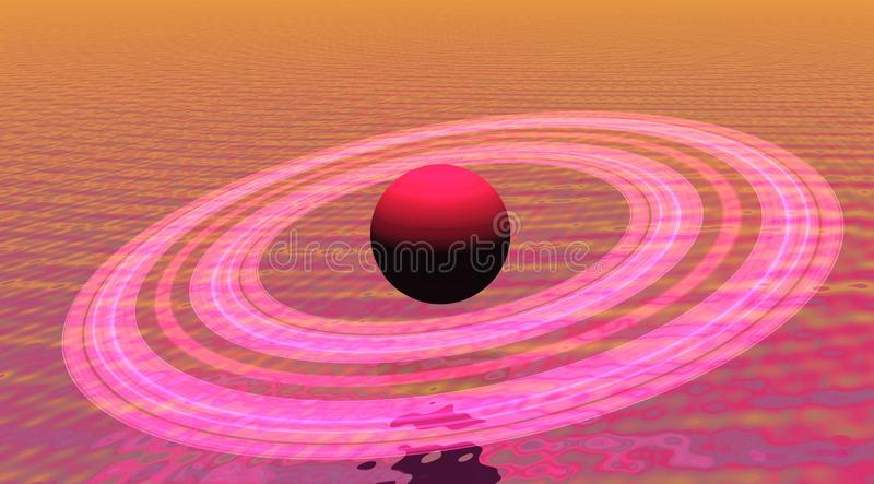 Saturnus stock illustratie