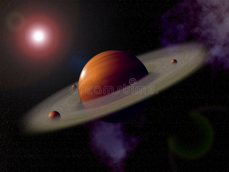 Saturnus. royalty-vrije illustratie