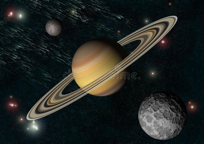 Saturnus royalty-vrije illustratie