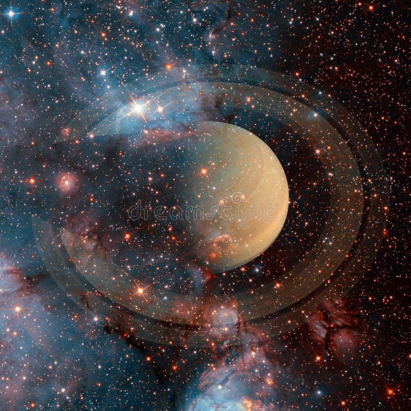 saturnus Elementen van dit die beeld door NASA wordt geleverd royalty-vrije stock afbeelding