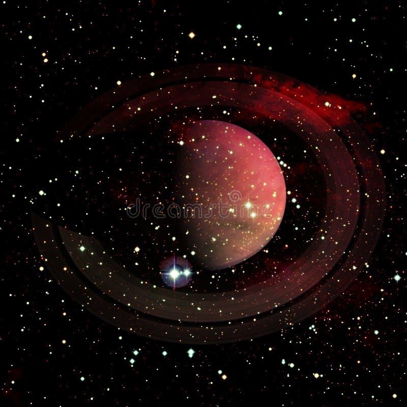 saturnus Elementen van dit die beeld door NASA wordt geleverd stock foto