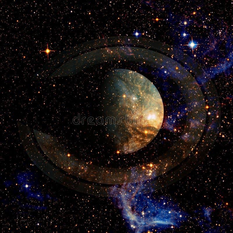 saturnus Elementen van dit die beeld door NASA wordt geleverd royalty-vrije stock foto