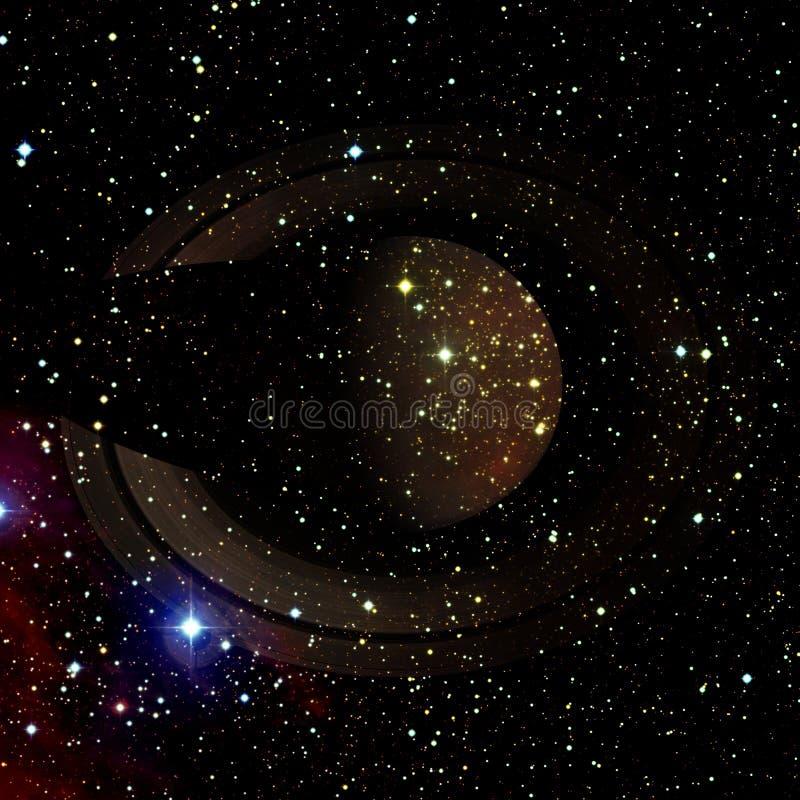 saturnus Elementen van dit die beeld door NASA wordt geleverd royalty-vrije illustratie