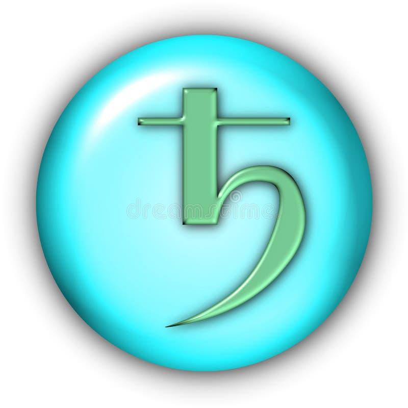 Saturnus Glyphs vector illustratie