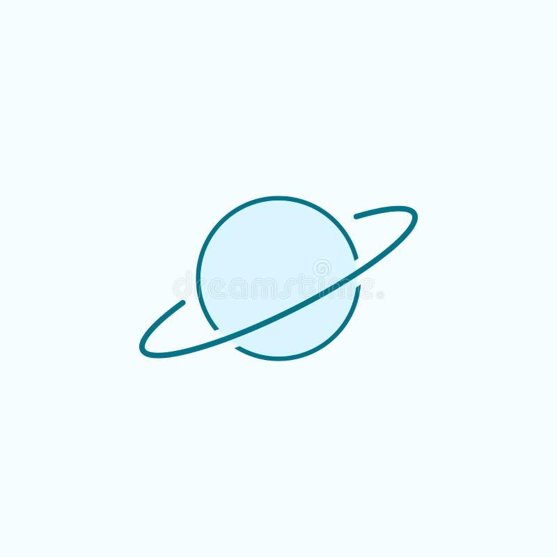 Saturnus 2 rassenbarrièrepictogram Eenvoudige kleurenelementillustratie Saturnus-overzichtsknopontwerp van Scientifics-studie op  royalty-vrije illustratie