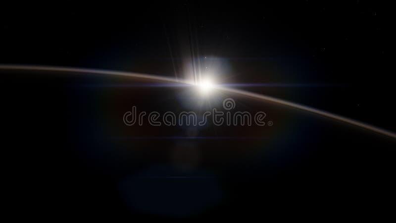 saturnus Science fiction ruimtebehang, ongelooflijk mooie planeten, melkwegen, donkere en koude schoonheid van eindeloos stock afbeelding