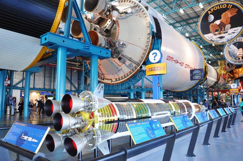Saturnus V stadium II van de Raket stock fotografie