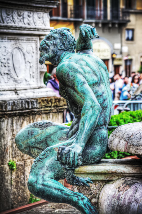 Detail From Satyr Bronze Statue 1575 Of Giambologna, In