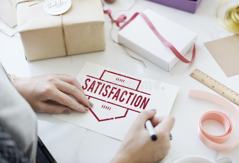 Satysfakcja klienta klienta użytkownika Szczęśliwy Usługowy pojęcie zdjęcia stock