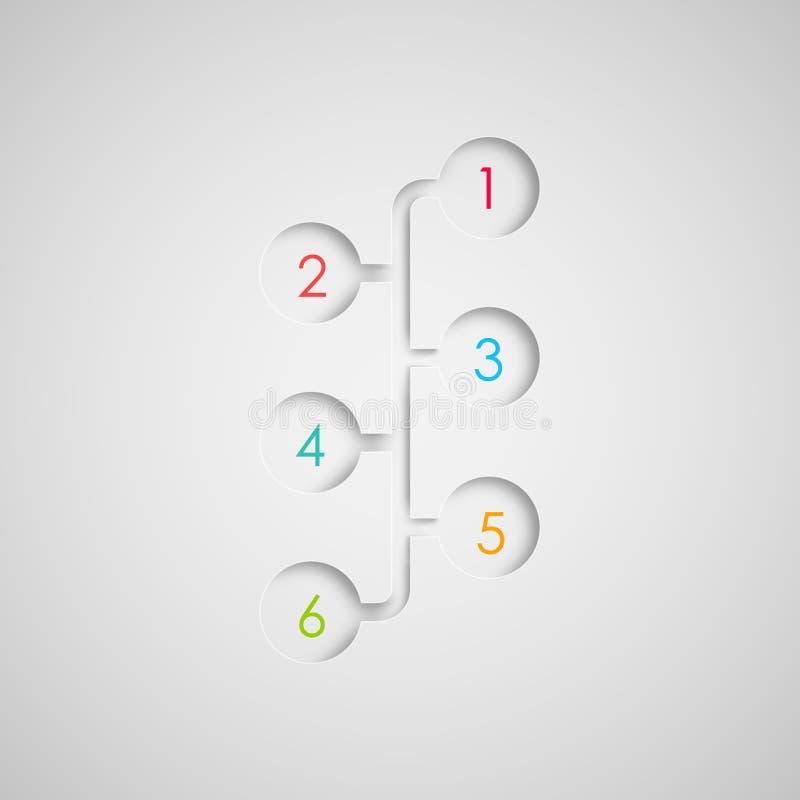 Satz abstrakte infographic Papierelemente 3d für Druck oder Webdesign stock abbildung