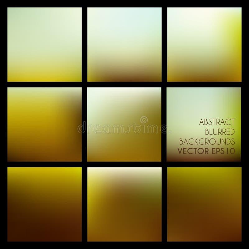 Satz abstrakter Vektor unscharfe braune Hintergründe vektor abbildung