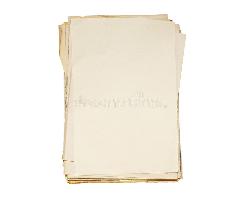 Satz alte Papiere stockbilder