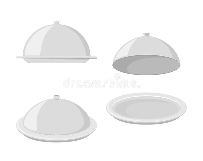 Satz Behälter für heiße Teller stock abbildung