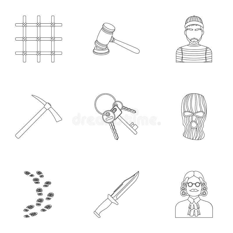 Satz Bilder über Das Gefängnis Und Die Gefangenen Überwachung Von ...