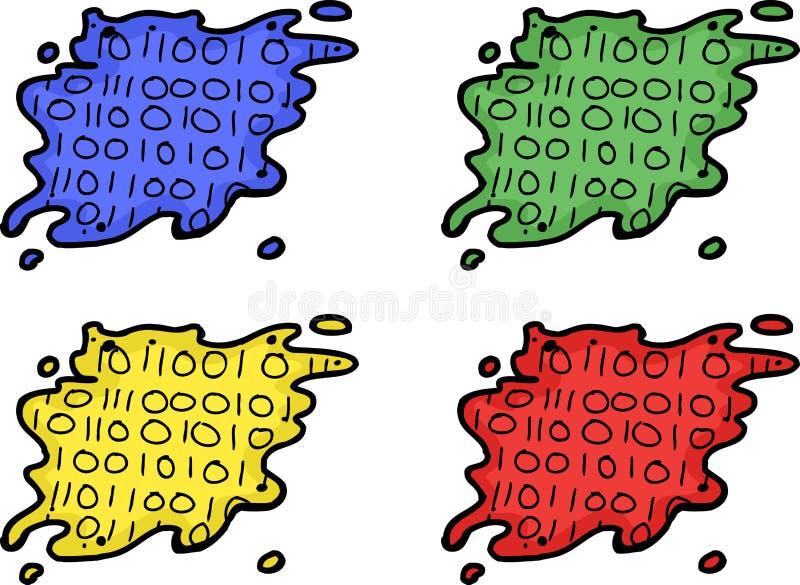 Satz Daten-Leck-Symbole lizenzfreie abbildung
