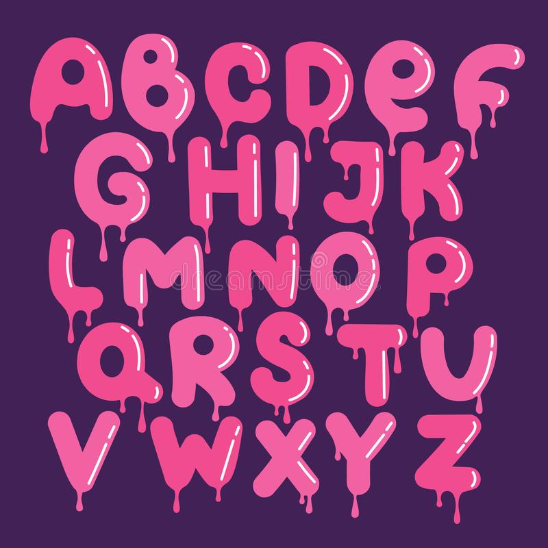 Satz dekorative englische Buchstaben lizenzfreie abbildung