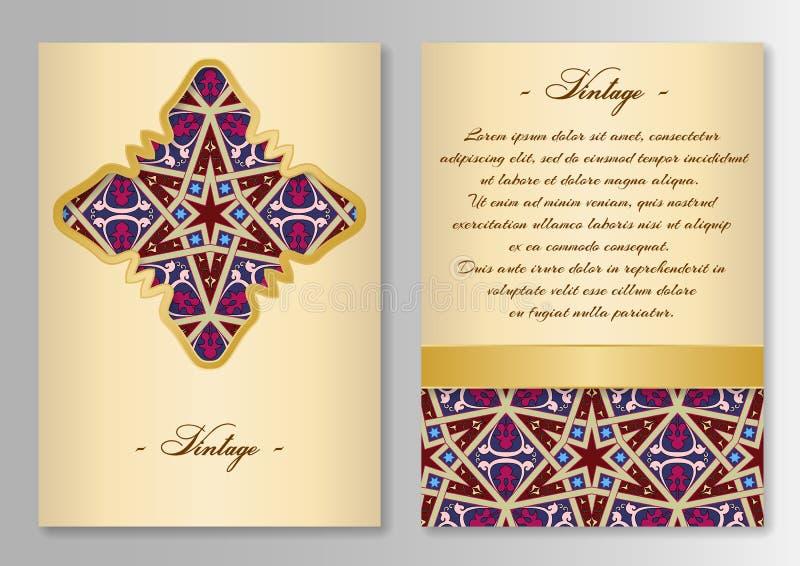 Satz der Broschüre, Plakatschablonen Weinleseart lizenzfreie abbildung