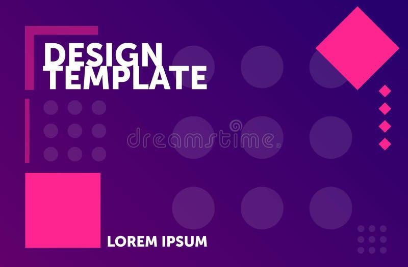 Satz der inphographic Ikonen Minimaler geometrischer Hintergrund Bunter abstrakter Aufbau lizenzfreie abbildung