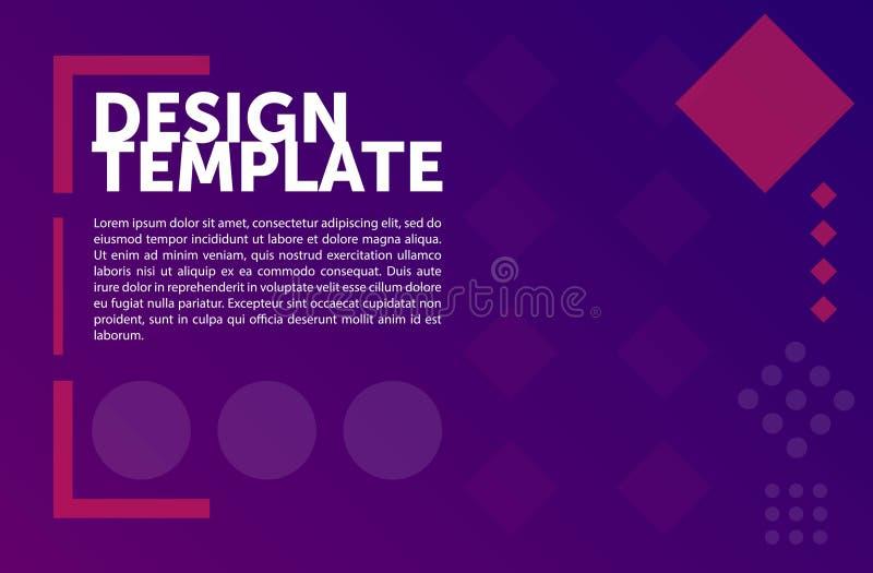Satz der inphographic Ikonen Minimaler geometrischer Hintergrund Bunter abstrakter Aufbau stock abbildung