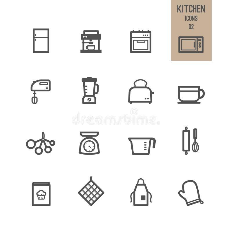 Satz der Küchenikone lizenzfreie abbildung