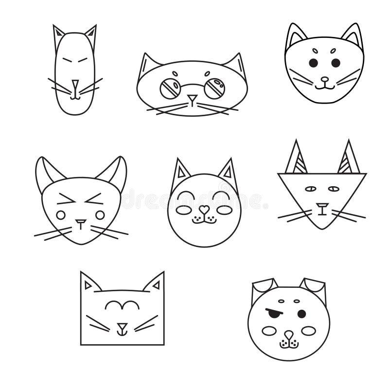Satz der Katzenmündung linear lizenzfreie abbildung