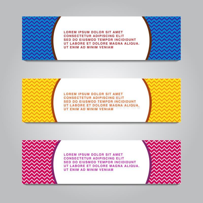 Satz der modernen globales Geschäfts-Design-Fahnen-Schablone lizenzfreie abbildung