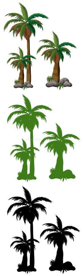 Satz der Palme stock abbildung