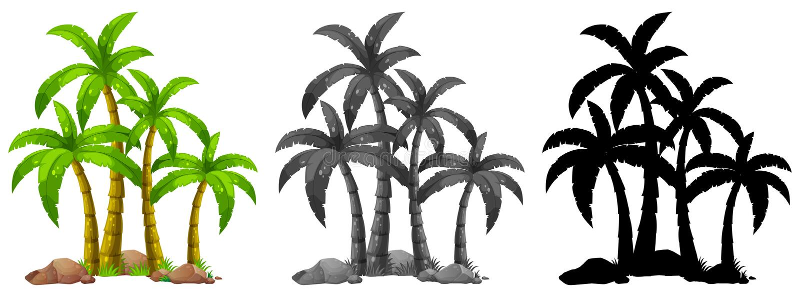 Satz der Palme lizenzfreie abbildung
