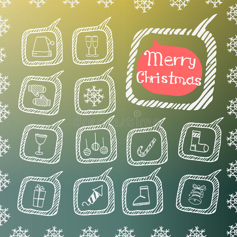 Satz der Weihnachtsikone vektor abbildung