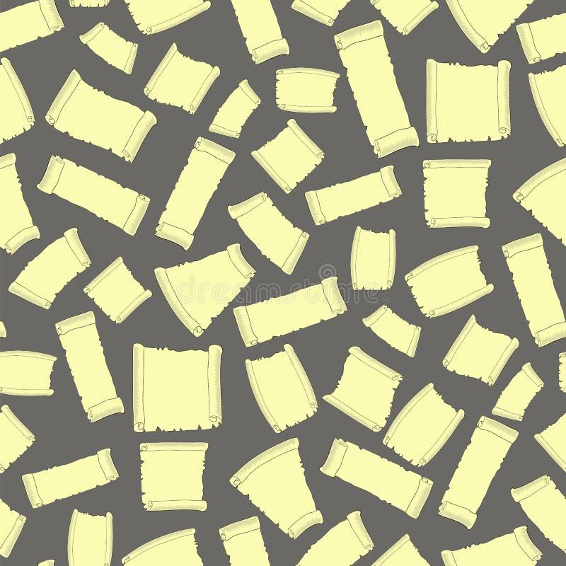 Satz des alte Papier-nahtlosen Musters lizenzfreie abbildung
