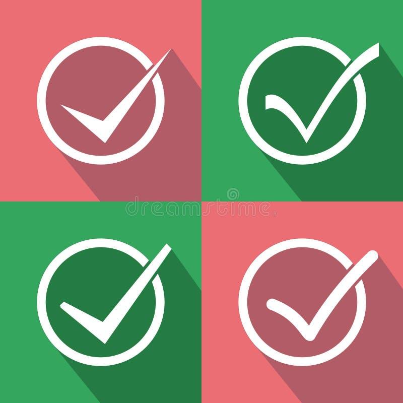 Satz des Auswahlkästchens Nehmen Sie, Checkbox oder Häkchen an lizenzfreie abbildung